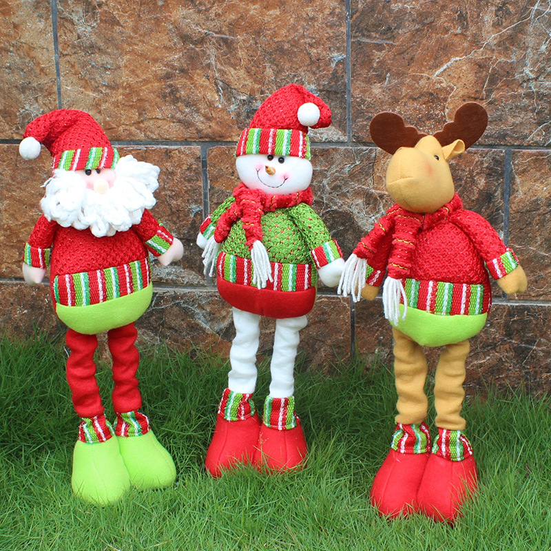 51cmScalable Santa Claus/Snowman/Deer Christmas Dolls Stuffed Plush Toys Christmas Decorations for home and Shopwindow Xmas Gift neje st0006 4 christmas stretch santa claus gift snowman doll red white