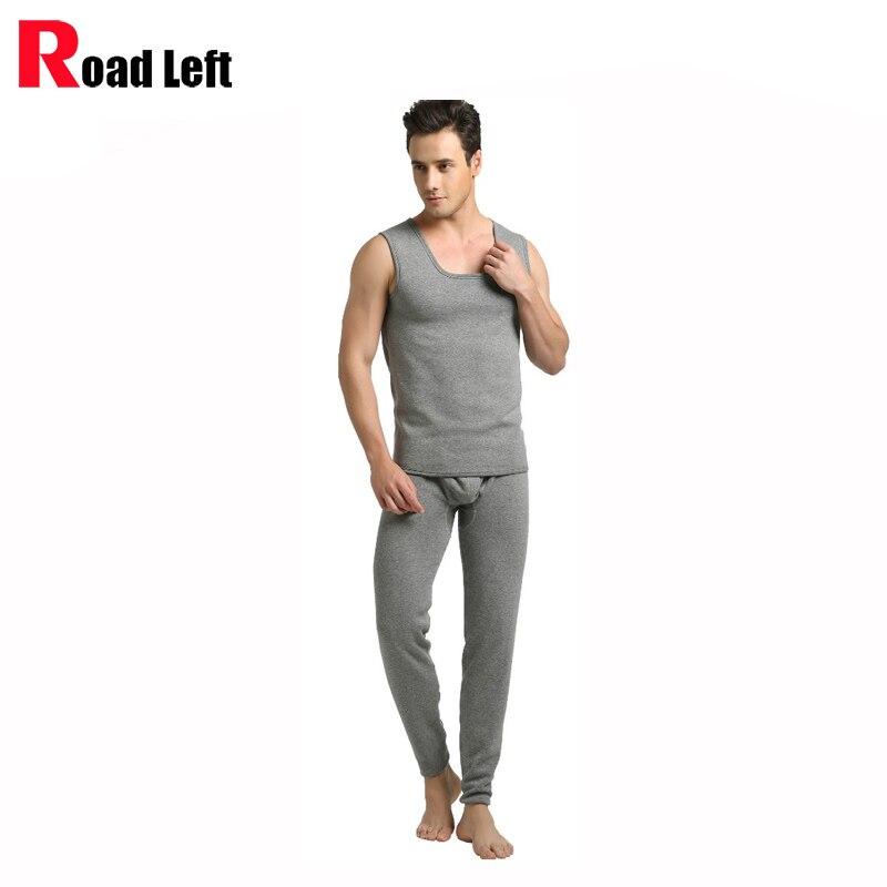 Black Gray Size M L XL Velvet Thicken Cotton Thermal font b Underwear b font Set