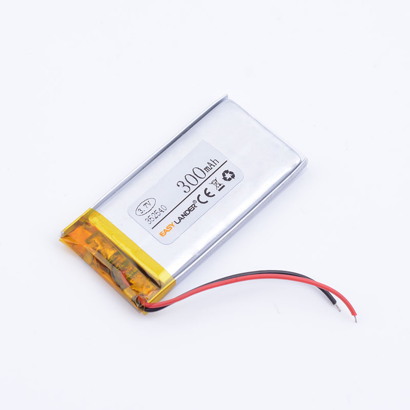 Li-polymer Battery 352540 3.7v 300mAh Lithium Polymer Battery Rechargeable Battery Good Quality OEM For GPS Bluetooth Headse