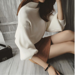 2015 women korean sweater loose wool knitted tops fashion casual for autumn winter knitted pullovers turtleneck.jpg 250x250