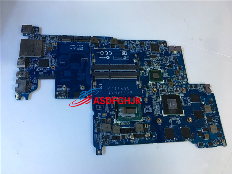 GENUINE FOR MSI GS60 WS60 Series LAPTOP Motherboard WITH I7-4710HQ AND K2100M MS-16H31 MS-16H3 100% TESED OK image