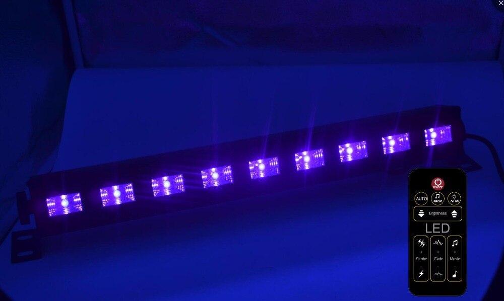 Hot Christmas 9*3W 27W UV LED Wall Light LED Wall Washer Light Stage Light LED Lamp LED Bar Black Purple Decoration Light Remote