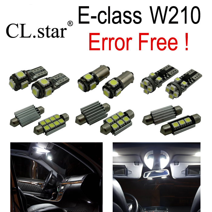 21pcs Error free LED Lamp Interior Light Kit For Mercedes For Mercedes-Benz E class W210 Sedan E300 E420 E320 E430 E55 AMG 95-02 2pcs 12v 31mm 36mm 39mm 41mm canbus led auto festoon light error free interior doom lamp car styling for volvo bmw audi benz