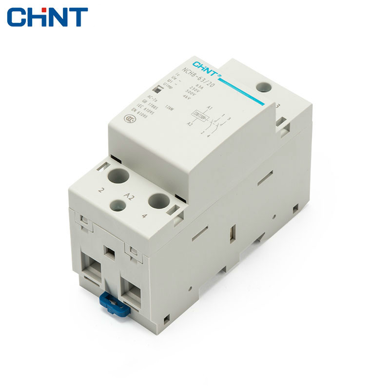 цена на CHINT Household Small-sized Single-phase Communication Contactor NCH8-63/20 220V Guide Type Two Normally Open 2P 63A