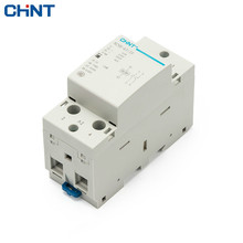 CHINT Household Small-sized Single-phase Communication Contactor NCH8-63/20 220V Guide Type Two Normally Open 2P 63A цены