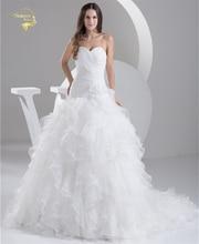 2016 Bílé Louisvuigon Vestido De Noiva Robe De Mariage Svatební šaty A Line Organza Svatební šaty 2016 Sweetheart YN 9508
