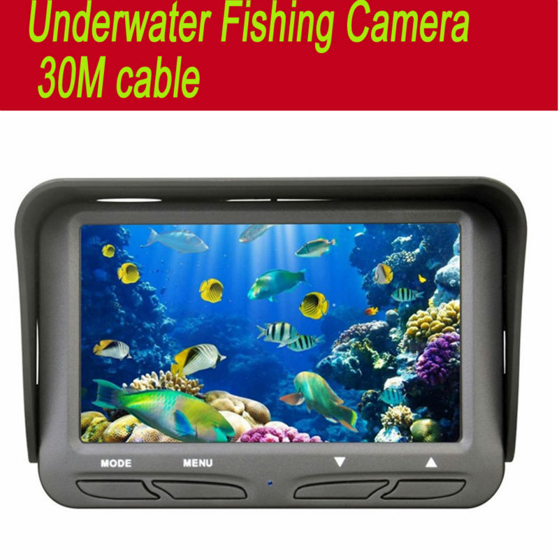 30m Underwater Fish cameras Finder Sea Real-time Live Underwater Ice Video Fishfinder Fishing Camera IR Night Vision 4.3 screen ruuhee swimwear women bikini 2017 swimsuit bathing suit brazilian beachwear push up bikini set maillot de bain biquini swim wear