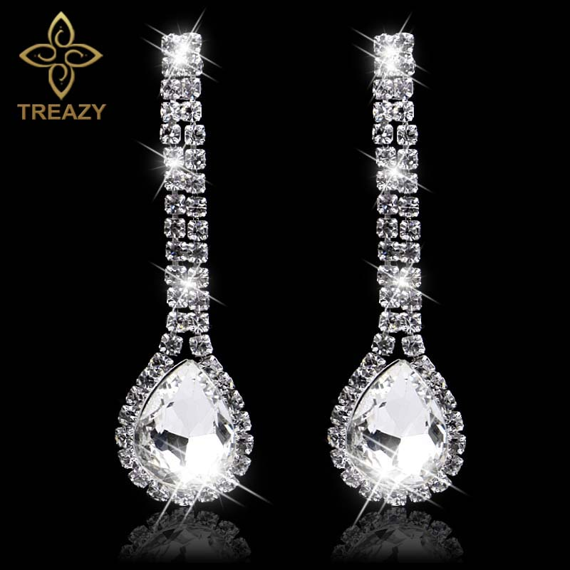 Find great deals on eBay for Long Silver Necklace in Fashion ... about  TREAZY Women Diamante Rhinestone Choker ... Crystal Bridal Jewelry 1e591cf19c5a