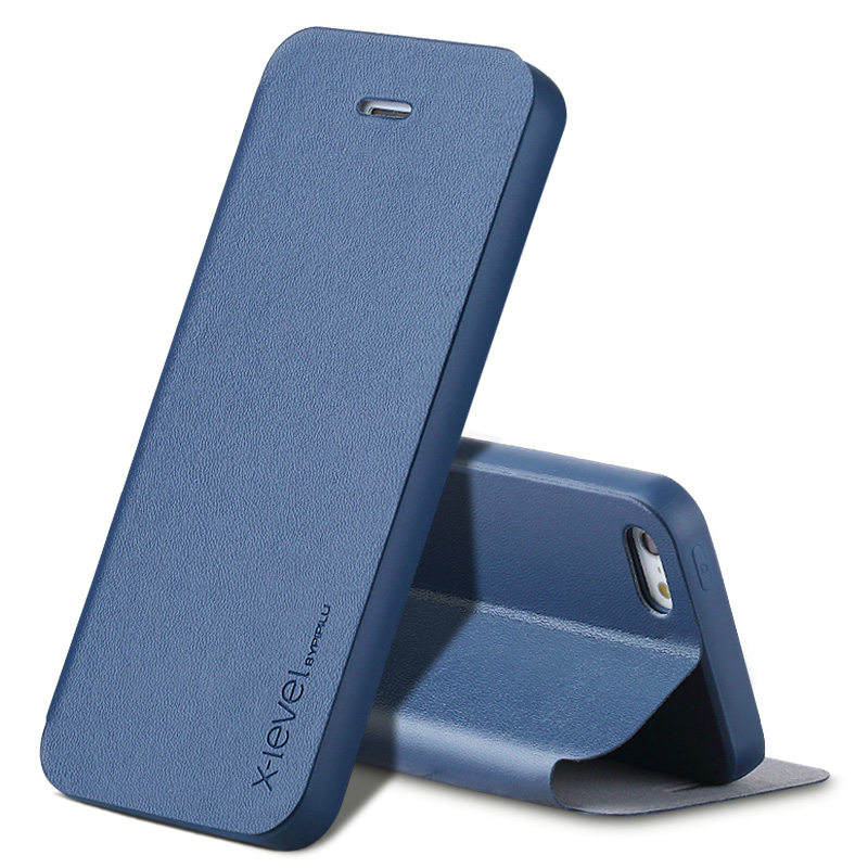 X-Level Flip Leather Case For iPhone 5 5S Cases Ultra Thin Shockproof Business Back Phone Cover Case For iPhone 5s 5