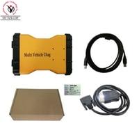 10pcs DHL Multi Vehicle Diag VD TCS CDP Bluetooth 2015.2 free activate MVD Interface OBD2 OBDII Car Truck Diagnostic Tool