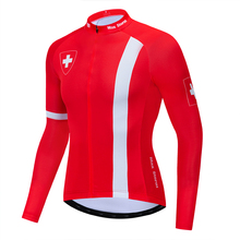 2019 Switzerland cycling jersey winter long sleeve Winter Fleece&no Fleece clothing Reflective zipper 4 pocket