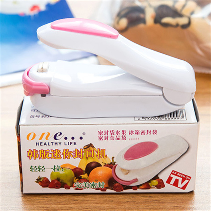 Portable Bag Clips Handheld Mini Electric Heat Sealing Machine Impulse Sealer Seal Packing Plastic Bag Clip work with battery in Bag Clips from Home Garden