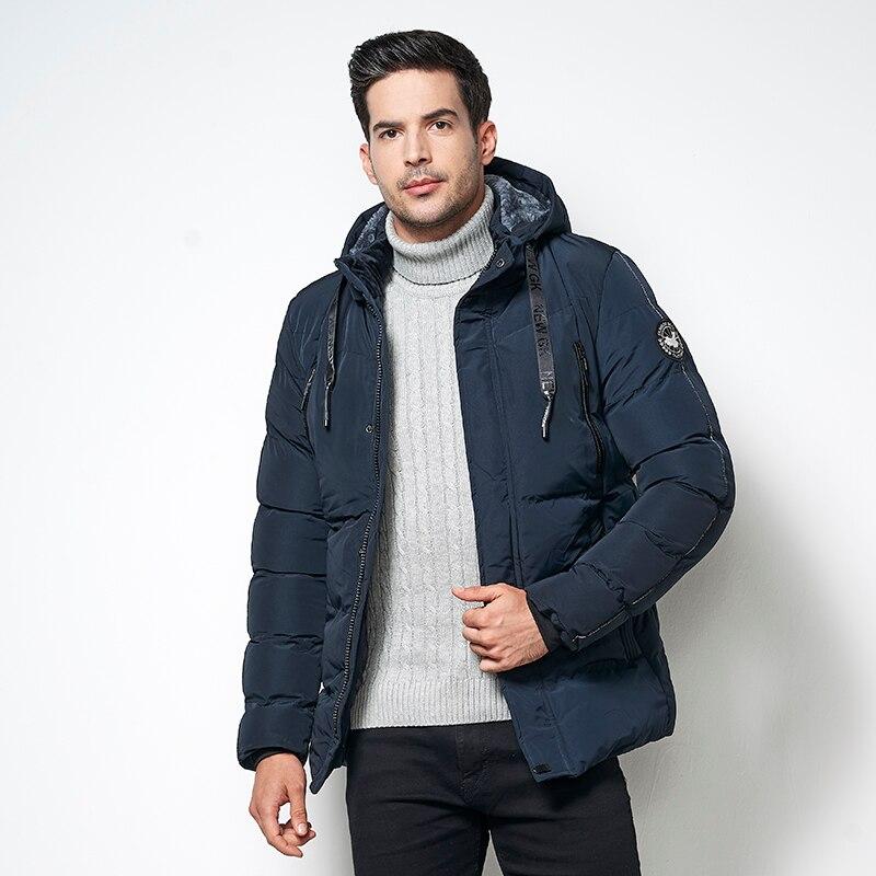 COUTUDI 2018 Men s Spring Winter Down Jackets Casual Short Parkas Coats Male Regular Warm Hooded