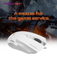 FELYBY Brand high quality Wired Gaming mouse DPI 4800 USB7 Buttons Professional Gamer Computer 6 colors LED Optical mouse