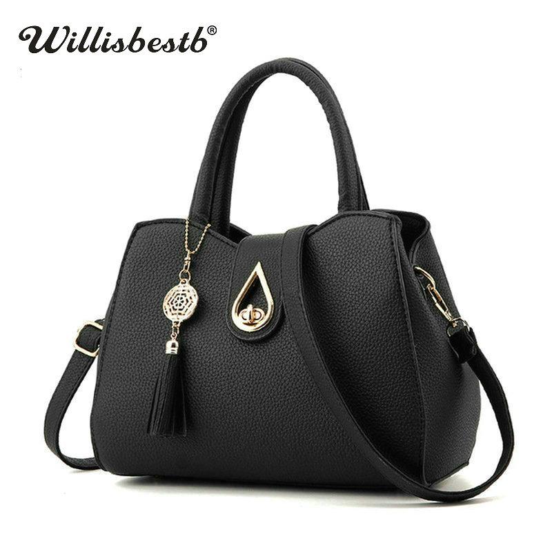 2018 New Tassel Women's Crossbody Bag For Women Shoulder Bags Female Leather Handbags Luxury Brand Soft Ladies Messenger Bags