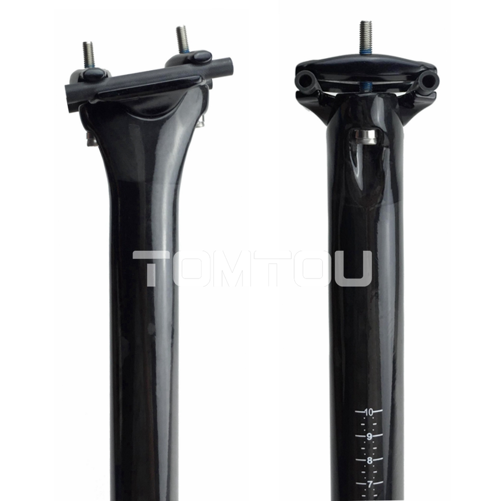 Ultralight Full UD Carbon Fiber Bicycle Seat Post 0mm Offset Cycling MTB/Road Bike Parts 27.2/30.8/31.6mm Glossy Black