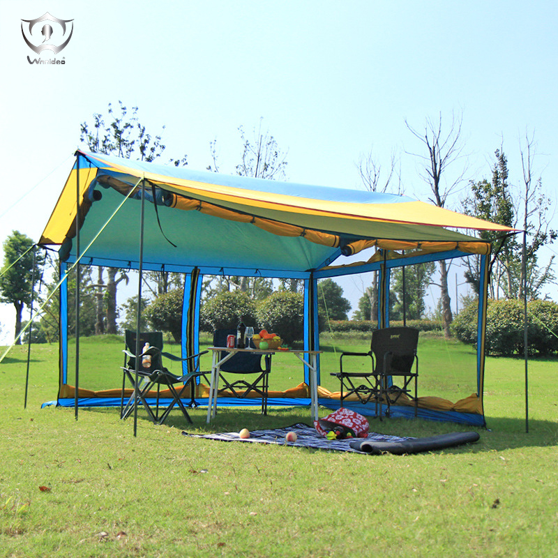 Outdoor Camping 5-8 People Activities Tent Sun Shelter Camouflage Nets Awnings Gazebo Tent Guarda Sol De Praia ZS7252 outdoor camouflage cloth camping tent sun shelter simple tent windproof rainproof sunshade canopy waterproof cloth 3 3 m