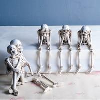 4.5 inch vintage Figurine See Speak Hear No Evil Shelf Sitters Figurines Statue Decorative crafts Miniatures Home decoration