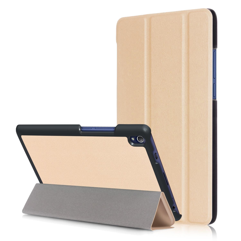 Bilgisayar ve Ofis'ten Tabletler ve e-Kitaplar Kutu'de Kılıf kapak için 2016 Lenovo Tab 3 8 artı P8 TB 8703F TB 8703N 8 inç Tablet Folio standı PU deri kılıf kılıfı + ücretsiz hediye title=