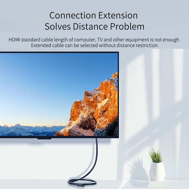 Hagibis HDMI Extension Cable 4K 3D HDMI2.0 male to female extender for Computer/HDTV/Laptop/Projector/PS3/4 Audio Video Cable 1m