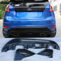 Поддельные углеродного волокна MK7 авто задний обвес бампера Диффузор для Ford Fiesta 2008 2012