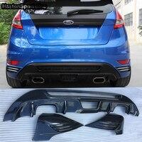Fake Carbon Fiber MK7 Auto Car Rear Body Kit Bumper Diffuser for Ford Fiesta 2008 2012
