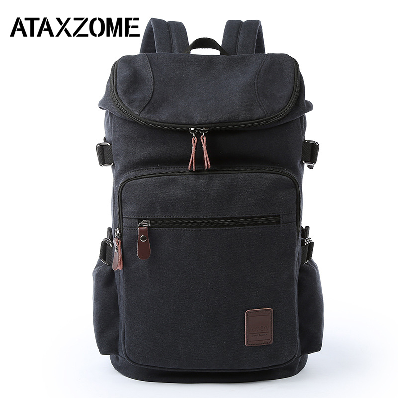 ATAXZONE High Quality Canvas Travel Backpack Bag Large Capacity Outdoor Travel Casual Men's Backpack Hiking Backpacks 65l professional outdoor mountaineering bag camouflage bag large capacity multi function camping hiking backpack outdoor travel