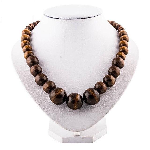 nouveaux prix plus bas magasin britannique vente en ligne collier perle bois pour homme