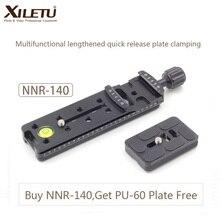 XILETU NNR-140 кронштейн для камеры удлиненный быстросъемная пластина зажима для панорамной и макросъемки Arca Swiss