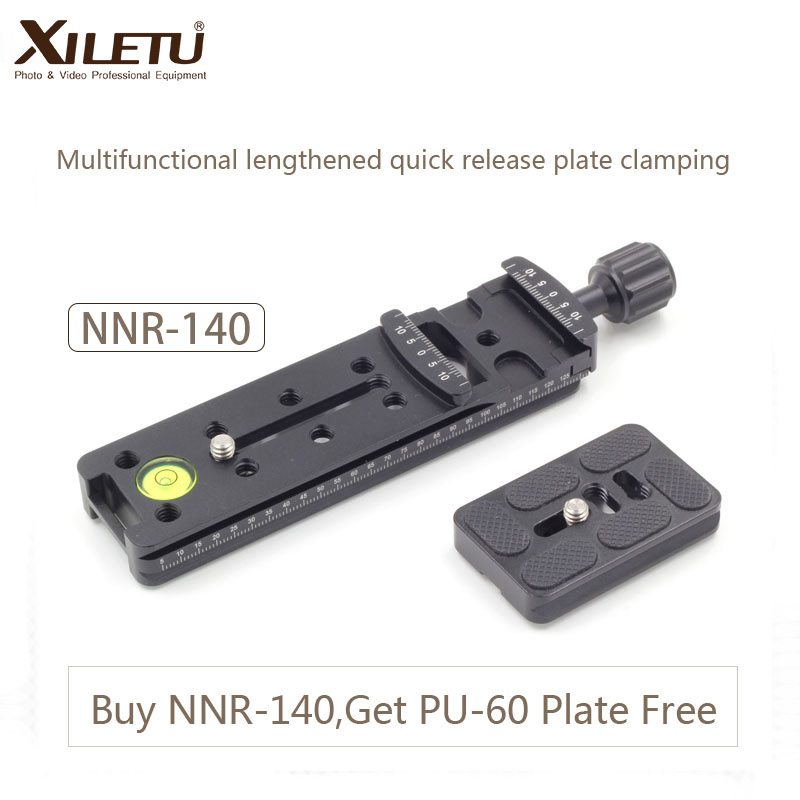 XILETU NNR-140 Camera Bracket Lengthened Quick Release Plate Clamping For Panoramic and Macro Shooting Arca Swiss