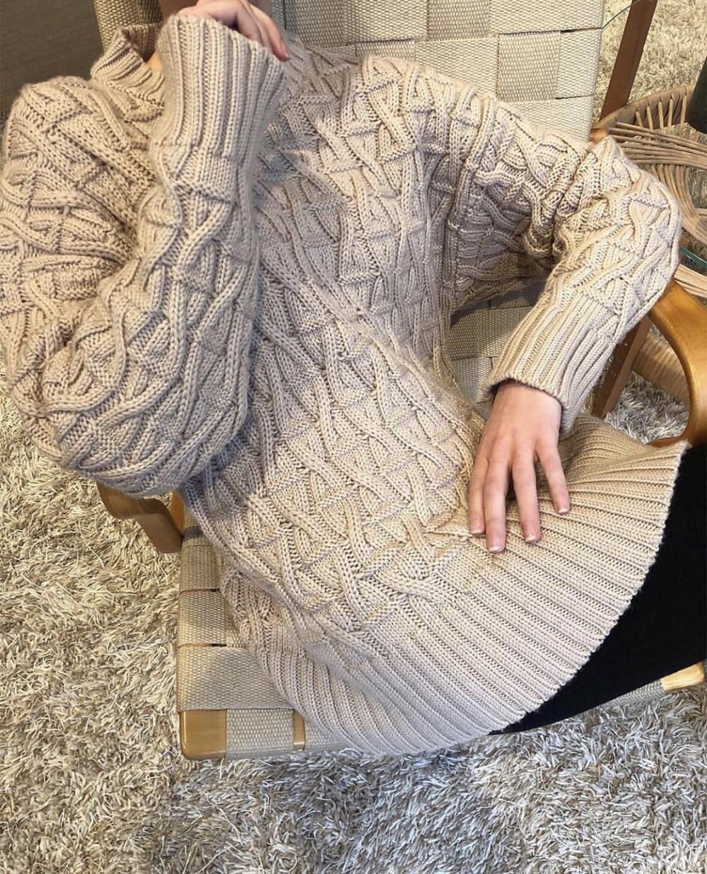 Femme Top Blogueurs Longues Poignets Mode Manches mélange Tricoté De Col À Cavalier Ourlet Oversize Nervuré Laine Tordu 2018 Sable Chandails aOqwW7U