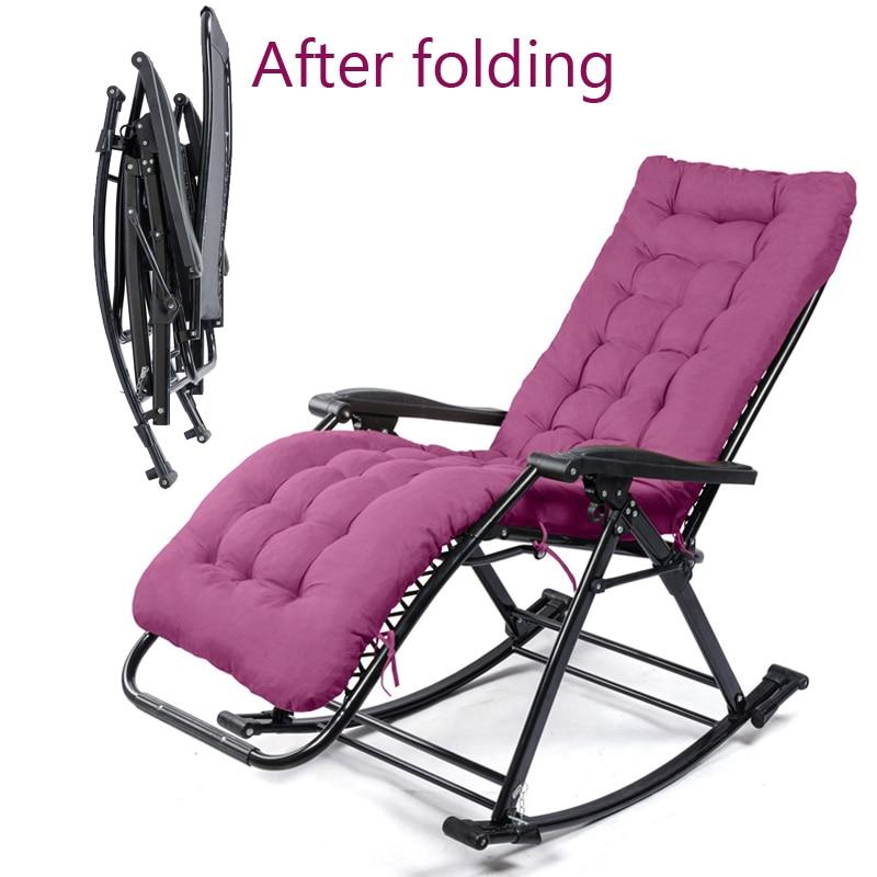 15%, Comfortabele Relax Schommelstoel Vouwen Lounge Stoel Relax Stoel Met Katoen Kussen Dutje Fauteuil 250 Kg Lager