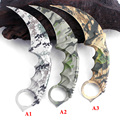Latest CS GO Karambit Knife camouflage Survival Tactical Fighting folding Knife hunting knives camping EDC tool Free shipping