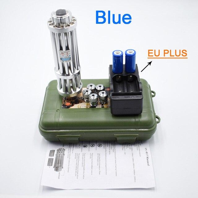 Puntero láser más potente azul Proyector de luz láser WUZSTAR 60 + 4 patrones RG, luces de discoteca DJ, iluminación RGB para fiesta, decoración de escenario con sonido activado