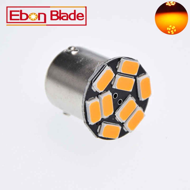 цена на 1156 BAU15S 9SMD Amber Yellow LED Lamp py21w LED Car Bulbs Turn Signal External Lights Car Light Source Parking 12V