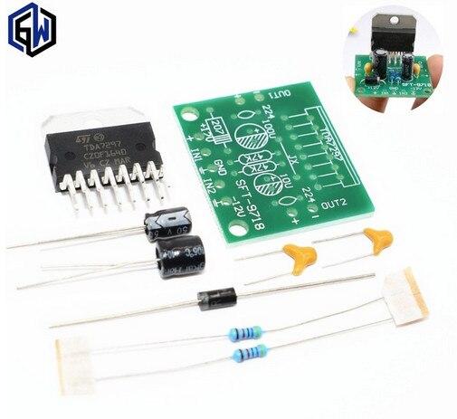 1 компл. TDA7297 Плата усилителя запчасти dc 12 В класс 2,0 двойной аудио кодирование 15 Вт электронный diy kit