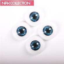 2 paires de yeux de sécurité adaptés pour 22 pouces Reborn Babies Doll Kits 22 mm demi-jouets rond yeux de poupée acrylique Eyes 2 couleur différente