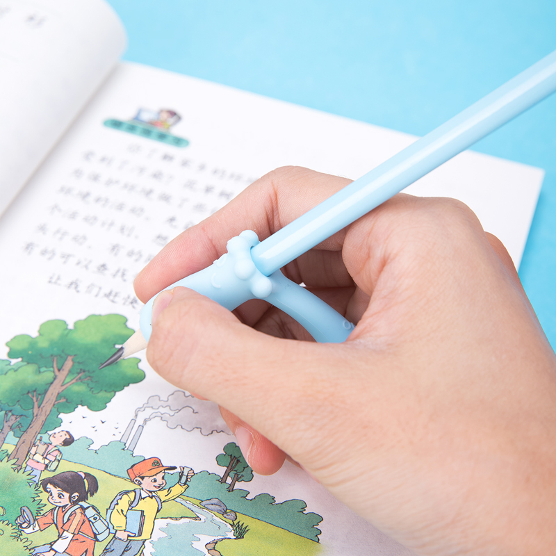 DELI Pupils Pencil Holders Toppers Student Pen Grip Posture Correction Children Pencil Holder Writing Aid Office