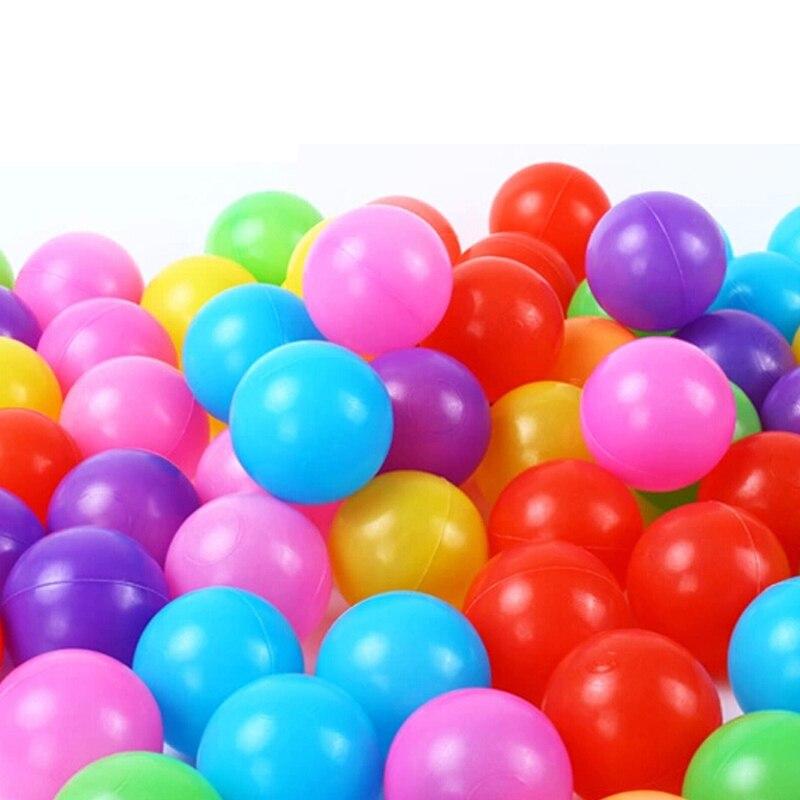 50PCS 7CM Eco-Friendly Pit Balls Soft Pool Ocean Balls Stress Air Balls Outdoor Game Pla ...
