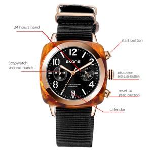 Image 2 - קלאסי ניילון רצועת גברים ספורט שעונים למעלה מותג יוקרה Skone קוורץ לוח שעון סטופר זכר צבאי שעוני יד