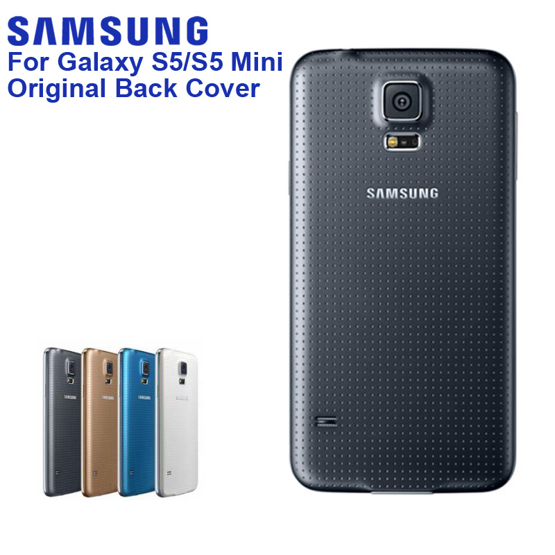 Original <font><b>SAMSUNG</b></font> Back Battery Rear <font><b>Case</b></font> For <font><b>Samsung</b></font> <font><b>GALAXY</b></font> <font><b>S5</b></font> G900S <font><b>G900F</b></font> G9008V G9006V <font><b>S5</b></font> mini S5MINI G870A G870W SM-G800F image