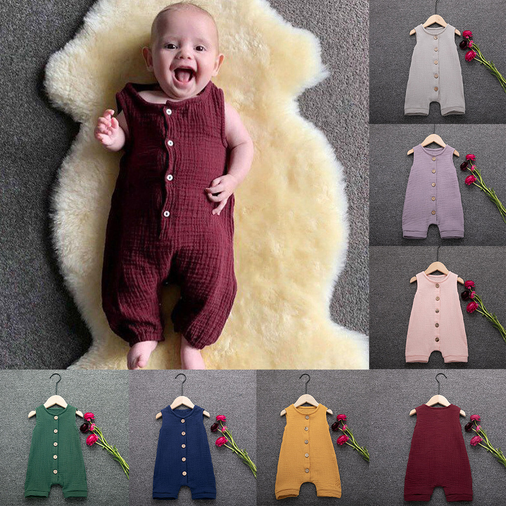 summer clothes for girls Infant Baby Boys&Girls easter   romper   Ruffles Solid Vest   Romper   toddler jumpsuit baby girl clothes 2019