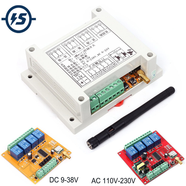 DC 9 38 V/AC 110 V 230 V Wifi Relais Schalter Multi Kanal Handy fernbedienung Netzwerk Modul Antenne Wireless Smart Home