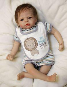 Wholesale Reborn Baby Doll 22 Inch 55 cm Newborn Silicone Babies boy doll Lifelike bebe doll bonecas Toy Kids Birthday Gift