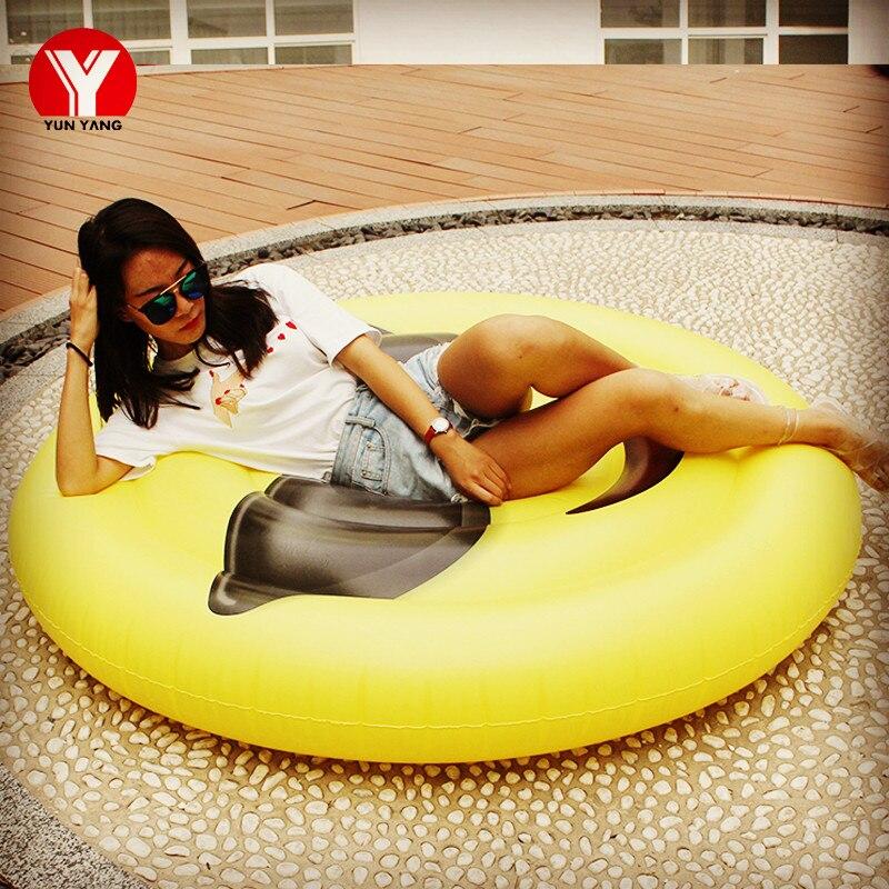 160 Giant Inflatable Emoji Pool Float Emoji Swimming Ring Water Toy Inflatable Glasses Emoji Float for Women Emoji Air Mattress