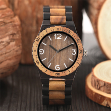 Minimalist Retro Full Wooden Watches Women Men Bamboo Wood B