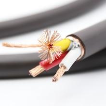 VP1606 высокое качество, шт. VP1606 Чистая медь 5N OFC 6 мм квадратный каждый проводник AC кабель питания для Hi Fi аудио кабель