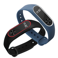 Dual Color Strap For Xiaomi Mi Band 2 Multiple Bracelet Change Optional Beautiful Stylish Xiaomi Replacement Silicone Strap