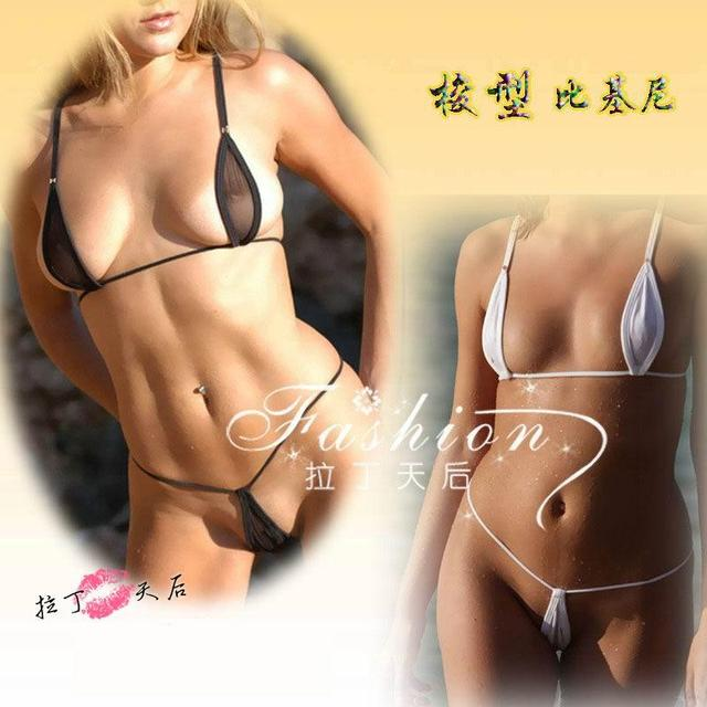 See thru mesh tiny g string bikinis know, how