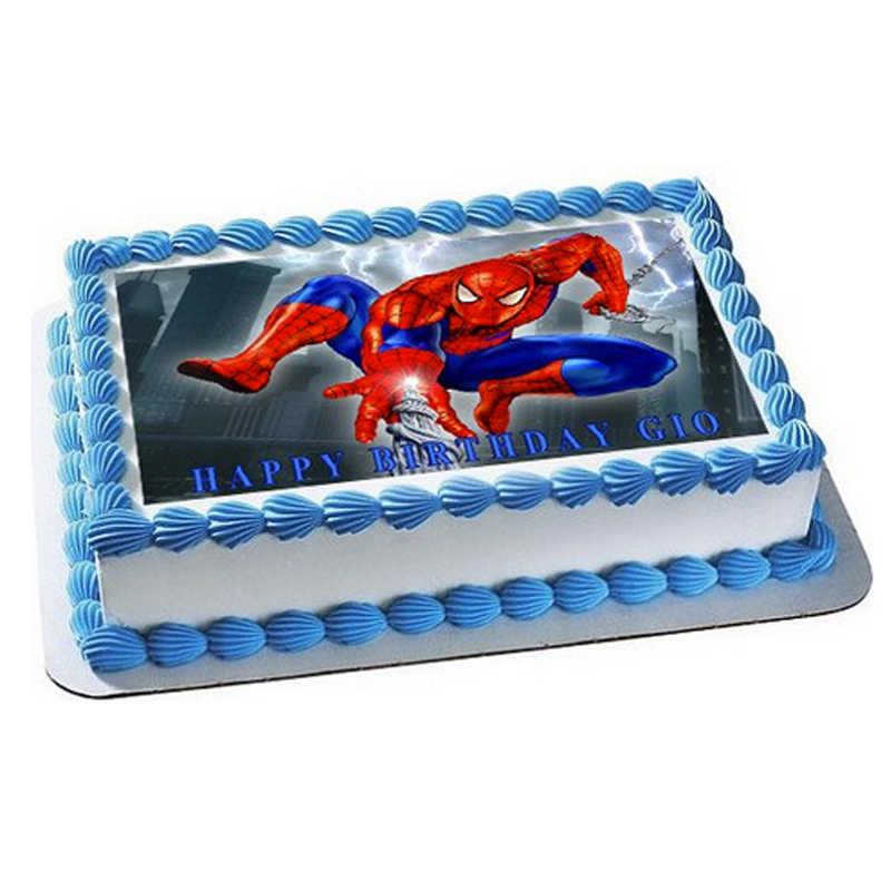 торт с сахарной картинкой человек паук фото пострадал войну